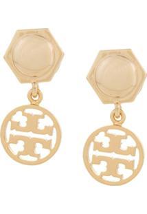 Tory Burch Brinco Com Logo - Dourado
