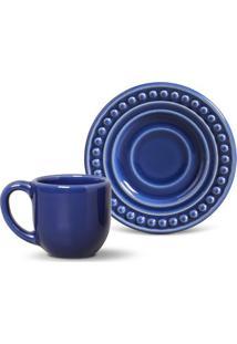 Xícara De Café Atenas Cerâmica 6 Peças Azul Navy Porto Brasi
