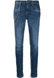 Liu Jo Calça Jeans Skinny Com Corrente - Azul