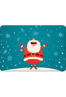 Tapete Sala Love Decor Papai Noel Feliz Azul