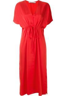 Reinaldo Lourenço Vestido Midi Com Laço - Vermelho
