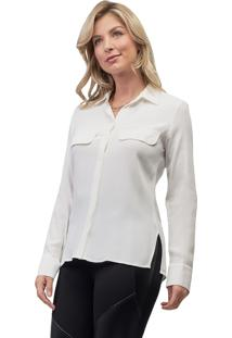 Camisa Crepe Mx Fashion Leonora Off White
