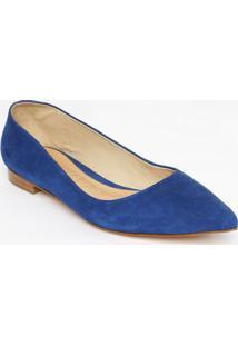 Sapatilha Em Couro Nobuck - Azul Marinho -Schutz