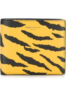 Saint Laurent Carteira Animal Print - Amarelo