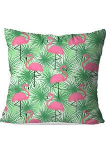 Capa De Almofada Avulsa Decorativas Flamingo Green 45X45Cm - Kanui