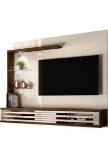 "Painel Suspenso Para Tv De 50"" Frizz Select - Madetec - Off White / Savana"