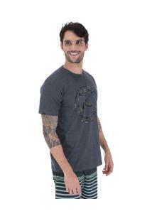 Camiseta Rusty Fractal - Masculina - Preto Mescla