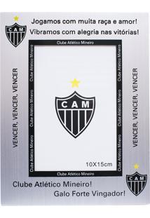 Porta Retrato Minas De Presentes De Alumínio Foto 10X15Cm - Atlético Mineiro Prata