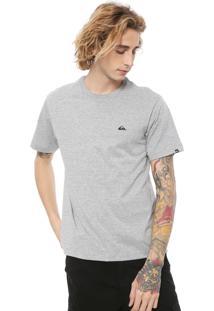 Camiseta Quiksilver Chest Cinza