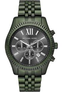 64032aa3f46de R  1979,90. Netshoes Relógio Militar Feminino Verde Militar Michael Kors ...