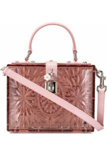 Dolce & Gabbana Bolsa Tote Cinderella Dolce Box - Rosa