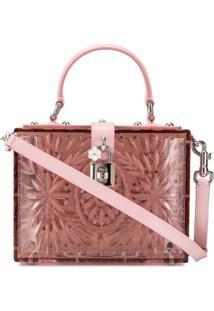 Dolce & Gabbana Cinderella Dolce Box Tote Bag - Rosa