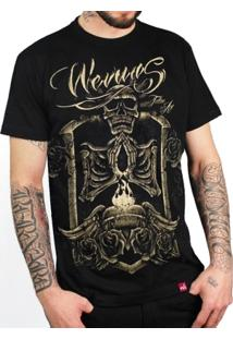 Camiseta Caveira Dourada - Masculino