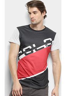 Camiseta Polo Rg 518 Estampada Masculina - Masculino-Branco