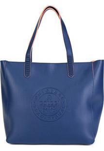 Bolsa Colcci Shopping Bag Avesso Color Feminina - Feminino-Marinho+Coral