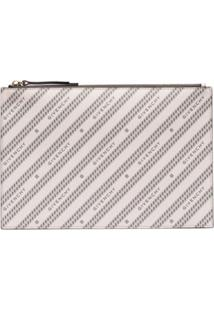 Givenchy Logo-Print Leather Pouch. - Rosa