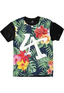 Camiseta Bsc La Flower Sublimada Preto