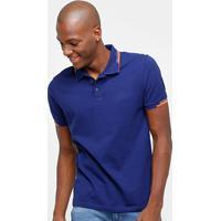 3d945b4cfa Camisa Polo Calvin Klein Friso Duplo Logo Relevo Masculina - Masculino
