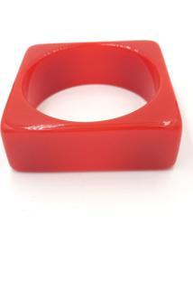 Pulseira Turpin Resina Quadrada Vermelha