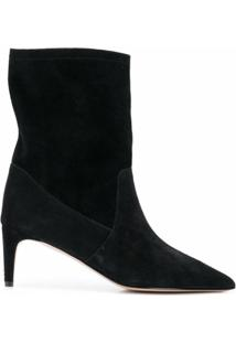 Red(V) Ankle Boot Bico Fino - Preto