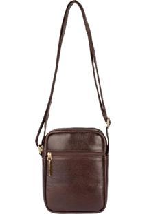 Bolsa Shoulder Bag De Couro Pietra - Café