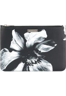 Neil Barrett Clutch Com Estampa Floral - Preto