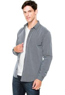 Camisa Sommer Geométrica Azul/Branca