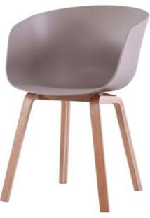 Cadeira Com Bracos Dino Nude Pes Madeira - 50062 - Sun House