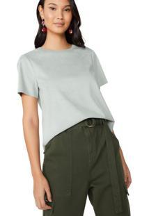 Amaro Feminino Camiseta Manga Curta Suede, Verde