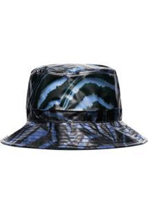 Ganni Chapéu Com Estampa De Zebra - Azul
