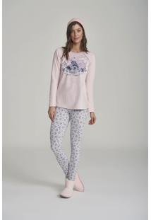 Pijama Cor Com Amor Estampado Rosa/Azul