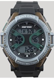 f530df071ee CEA. Relógio Mormaii Masculino Preto Digital Silicone Único ...