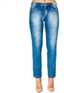 Calça Jeans Sarah Skinny Realist - Feminino-Azul