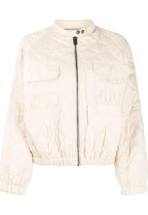 Zadig&Voltaire Bubble Quilted Bomber Jacket - Neutro