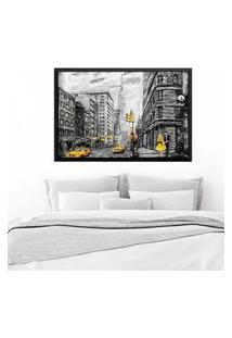 Quadro Love Decor Com Moldura Nova York Preto Grande