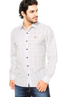 Camisa Forum Xadrez Off-White