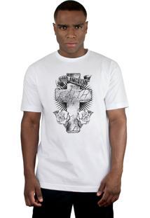 Camiseta Bleed American Faith Branca.
