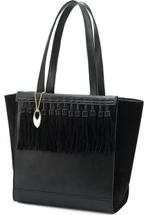 Bolsa Tote Bag Macadâmia Preta
