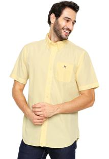Camisa Polo Play Reta Fio 60 Amarela