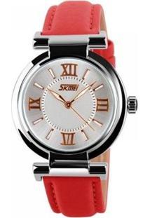 Relógio Skmei Analógico Feminino - Feminino-Vermelho
