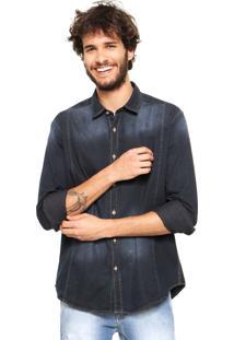 Camisa Reserva Regular Azul-Marinho