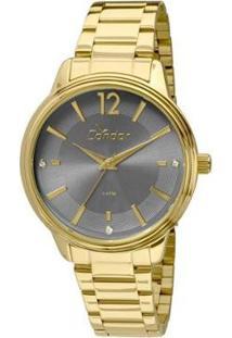 Relógio Condor Eterna - Feminino-Dourado+Preto