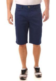 Bermuda Jeans Denuncia Middle Masculina - Masculino-Azul Escuro