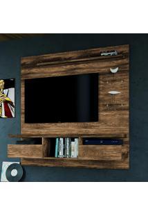 Painel Para Tv Antares Suspenso Até 55 Polegadas Canela Rústico - Colibri Móveis