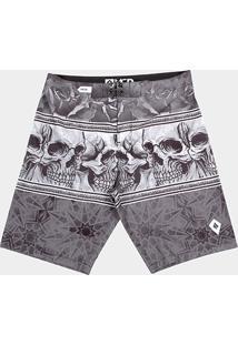 Bermuda Mcd Multiple Skull Masculina - Masculino