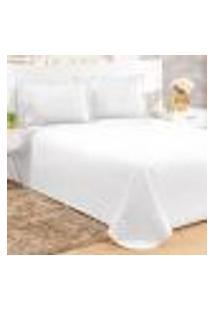 Conjunto Cobreleito Casal Com 2 Fronhas Clean Branco