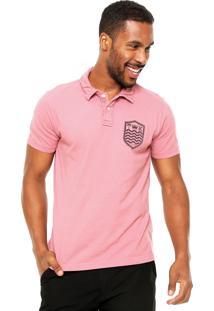 Camisa Polo Osklen Slim Rosa