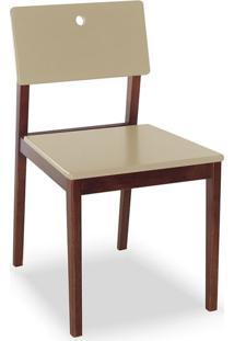 Cadeira Flip I Cacau E Marrom Claro
