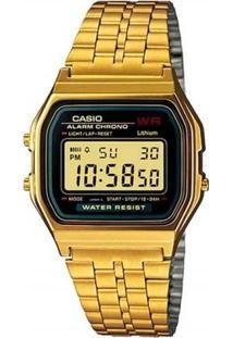 Relógio Casio - A159Wgea-1Df - Feminino-Dourado
