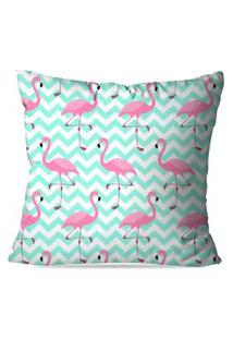 Capa De Almofada Love Decor Flamingos Love Multicolorido Azul